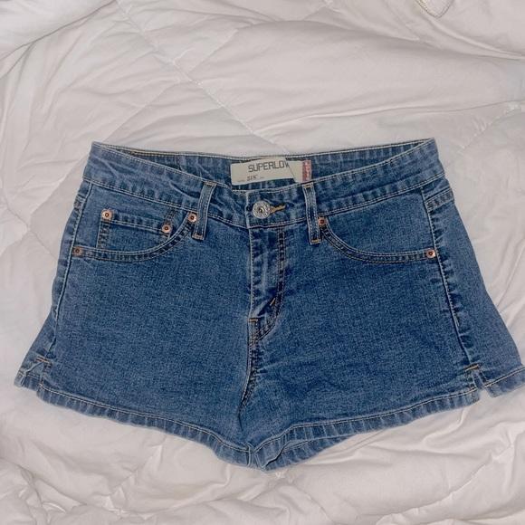 Levi's  518 super low denim shorts